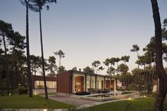 Contemporary Residence with Cumarú Wood Coating in Portugal