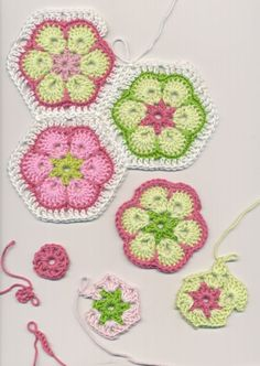 TEJER GANCHILLO CROCHET: Paso a paso: flores al crochet . Step by step crocheted…