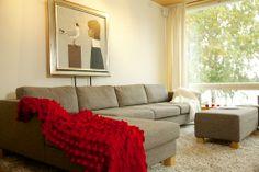 Living room at Liljasaarentie
