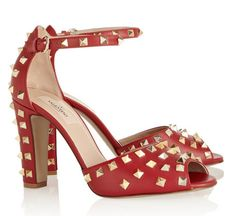 Studded leather sandals by Valentino