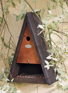 Decorative Bird Houses, Bird Houses Diy, Bird House Feeder, Bird Feeders, Blue Crafts, Diy And Crafts, Bird House Plans, Bird Boxes, Creative Workshop