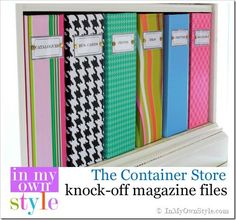 Organizing Ideas How to make your own Container-Store-Magazine-File