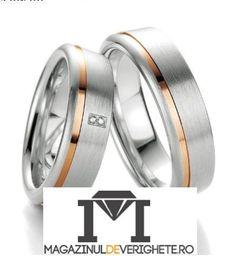 Verighete aur alb si aur roz MDV87  #verighete #verighete7mm #verigheteaur #verigheteauraplicatie #magazinuldeverighete 50 Euro, Karate, Wedding Rings, Engagement Rings, Model, Jewelry, Crystal, Diamond, Enagement Rings