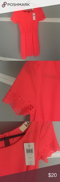 Brand: Lola dress. Size medium Brand new with tags! Never been worn beautiful pink dress with adorable sleeve detailing! Lola Dresses Mini
