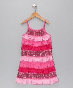 Take a look at this Pink Rain of Colors Tiered Ruffle Dress - Toddler & Girls by Lipstik Girls on #zulily today! by tamarasuereyna