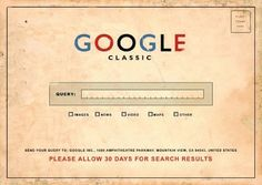 Google Classic.  Please allow 30 days for search results