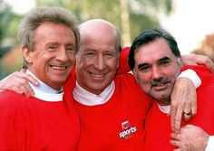Denis Law - Sir Bobby Charlton - George Best - The Trinity of Manchester United Manchester United Legends, Manchester United Football, Man Utd Squad, Denis Law, Bobby Charlton, Johnny Mathis, Old Trafford, Man United, Lionel Messi