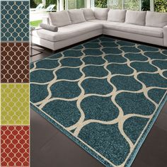 Lively in color and pattern, our cheerful Sunkissed Area Rug showcases an artistic, geometric design. This rug features a solid background with an ivory design, so they blend beautifully with bold and neutral color palettes.