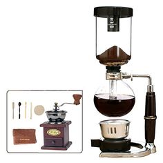 Royal Siphon Coffee Maker Kit Manual Coffee Machine  Color  Three People Servings  * Click on the affiliate link Amazon.com on image for additional details.