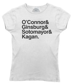 This female US Supreme Court Justice shirt celebrates some of our favorite icons of feminism. This feminist shirt makes a great gift for a lawyer, law school student or the nasty woman who needs a great activist shirt. Show off your fandom for justices Kagan, O'Connor, Ginsburg and Sotomayor and hope many more women follow in their footsteps at SCOTUS. Shirt Info: - pre-shrunk, baby soft, light weight, ringspun cotton - hand printed in the USA with eco-friendly water-based inks…