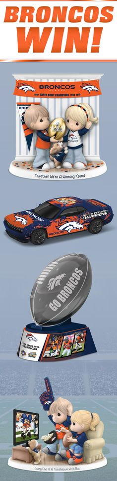 Denver Broncos fans are feeling alive with team spirit! Celebrate your Super Bowl 50 Champions in true winning style with The Hamilton Collection