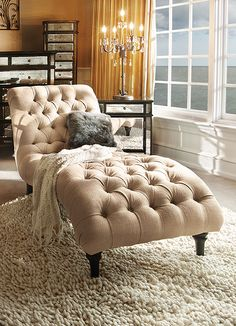 Does this look inviting or what? Our Audrey Chaise invites you to surrender into the lap of luxury.