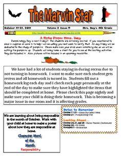 8fccb6ebacfef27cf01e62bd9f2dc434--newsletter-templates-newsletters One Page Pto Newsletter Templates on