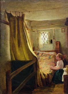 Evening Prayer  by John Bagnold Burgess - Evening Prayer  Painting - Evening Prayer  Fine Art Prints and Posters for Sale