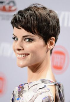 Jaimie Alexander New Short Pixie Haircut with Bangs