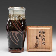 Shoji Hamada (1894-1978; Japan)  |  Vase with box.