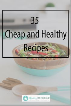 Eat healthy on a tight budget with these 35 Cheap Healthy Recipes. Inspire your meal planning with these budget friendly meal ideas. Budget Family Meals, Healthy Family Meals, Frugal Meals, Freezer Meals, Easy Meals, Crockpot Recipes, Healthy Recipes, Meal Recipes, Healthy Habits