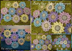Baby Cot Blanket   hexagon of Japanese flowers...5 to do The…   Flickr