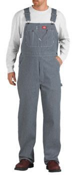 Men's Hickory Stripe Bib Overall, Size: 42 x Blue - Overalls Over Boots, Big Legs, Bib Overalls, Overalls Vintage, Tough As Nails, Better Length, Mens Big And Tall, Work Pants, Blue Denim