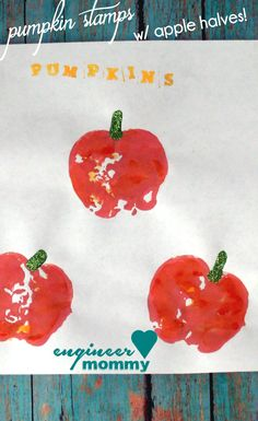 DIY Pumpkin Stamps {a kid's craft} | Engineer Mommy