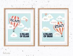 Islamic Nursery Art print Pillars of Islam Pillars of by lulirana