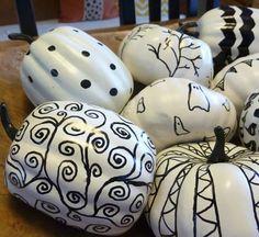 Fall Decorating Ideas: Mini White Pumpkins | Apartment Therapy