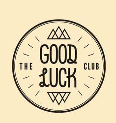 what a nice happy logo, LOVE. The good luck club Typo Logo, Logo Branding, Branding Design, Brand Identity, Type Design, Art Design, Typography Letters, Typography Design, Happy Logo