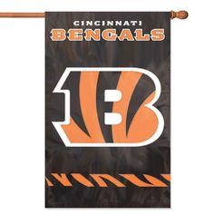 Cincinnati Bengals NFL Applique Banner Flag (44x28)