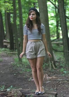 This striped look from Style Gallery contributor Lauren says French new wave meets camp counselor ...in the most adorable way possible!