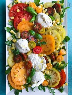 Tomato and Burrata Spring Salad - Cookin' with Mima| @redsunfarms #HealthyEats #RedSunFarms #HealthyRecipes #Produce #FarmFresh #GreenhouseGrown #EatTheRainbow #Delicious #FreshHerbs #Healthy #Veggies #RSF #Recipe #DIY