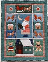 """Can't wait for those Christmas Cookies? get a start making this sweet """"kitchen cookie quilt"""" Memories from creating them with my twin daughters since they were 4 yrs old! Applique Quilt Patterns, Christmas Cookies, Daughters, Twin, Kids Rugs, Memories, Holiday Decor, Sweet, Kitchen"""