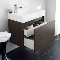 600mm Zone Wall Mounted Basin and Cabinet Vanity Unit £267