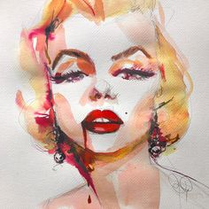 One of a kind. Celebrity Faces, Love Painting, Classic Hollywood, Kendall, Watercolor Tattoo, Original Art, Halloween, Artwork, Instagram