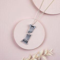 Column Design, Kintsugi, Tea Bowls, Little Bag, Black Box, Ancient Greek, Washer Necklace, Silver Plate, Arrow Necklace