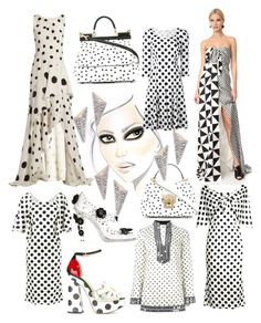 """""""Too cute....in Polka dots..."""" by lalu-papa on Polyvore featuring Tory Burch, Dolce&Gabbana, Charlotte Olympia, Monse, Oscar de la Renta, Alexis Bittar and vintage"""