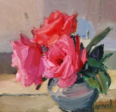 Marion DRUMMOND artist, paintings and art at the Red Rag Scottish Art Gallery Acrylic Flowers, Oil Painting Flowers, Oil Painting Abstract, Abstract Flowers, Watercolor Flowers, Painting Art, Watercolor Painting, Impressionist Paintings, Oil Paintings