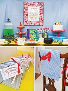 AMAZING Wizard of Oz party...to die for :)  wizard-of-oz-birthday-party-dessert-table-