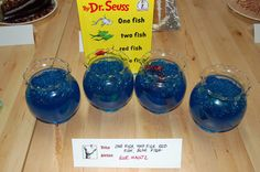 'One Fish, Two Fish, Red Fish, Blue Fish' by Dr. Seuss as interpreted by Sue Mautz at the Seattle Edible Book Festival; rendered in blue Jell-o