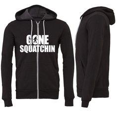 Gone Squatchin Zipper Hoodie