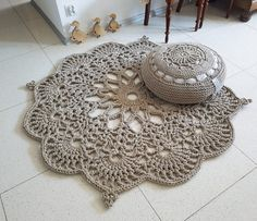 Floor Rug Crochet Rug Carpet, Floor Mat Rug Carpet, Area Rug Decorative Rug Knitting PatternsKnitting For KidsCrochet PatternsCrochet Bag Diy Tricot Crochet, Crochet Mat, Crochet Rug Patterns, Crochet Motifs, Crochet Home, Crochet Doilies, Crochet Flowers, Carpet Flooring, Rugs On Carpet
