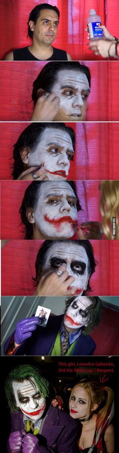 Amazing Joker Cosplay, make-up by Leandro Cabezón. - 9GAG