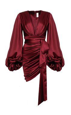 Alexandre Vauthier Ruched Silk-Blend Satin Mini Dress Size: 38 - Women's style: Patterns of sustainability Fashion Design Inspiration, Mode Inspiration, Fashion Ideas, Fashion Tips, Motivation Inspiration, Stage Outfits, Dress Outfits, Fashion Dresses, Modest Fashion