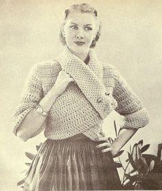 Free 1950's Knitting Pattern - A Coat in Novelty Wool