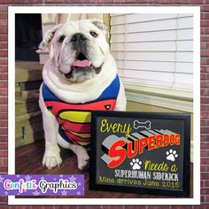 Every Superdog Needs a Superhuman With Custom Date Chalkboard Animal Pet Dog Pregnancy Announcement Baby Reveal Chalk Poster Sign Photo Prop