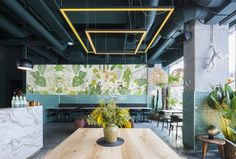 Completed in 2017 in Bucharest, Romania. Images by Andrei Margulescu         . Located in an upcoming neighborhood of the city, the restaurant aims to be a landmark for the regeneration of the old distressed urban tissue. It's...
