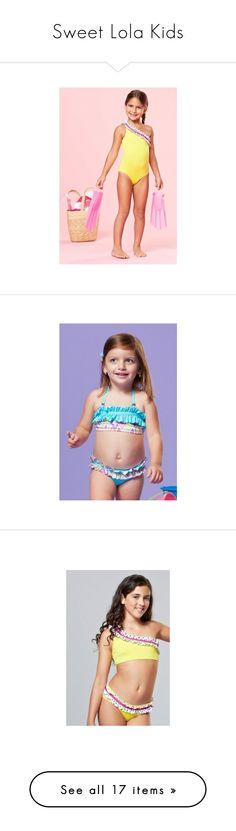 """Sweet Lola Kids"" by shopmiamistyle ❤ liked on Polyvore featuring swimwear, bikinis, bikini swim wear, turquoise swimwear, bikini two piece, turquoise bikini, bikini swimwear, hot pink swimwear, flounce swimwear and flounce bikini"