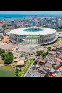 Estadio Fonte Nova. Club Bahia, Salvador. 55.000 pers, abierto en 2013. Brasil