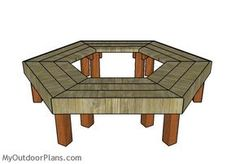 DIY tree bench plans
