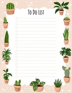 Hygge Weekly Planner And To Do List With Potted Succulent Plants To Do Lists Printable, Weekly Planner Printable, Planner Template, Free Printable Stationery, Printable Scrapbook Paper, To Do Planner, Daily Planner Pages, Week Planner, College Planner