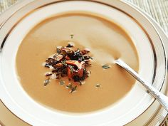 The Food Lab's Soup Month: Creamy Chanterelle Mushroom Soup Going Vegetarian, Vegetarian Recipes, Creamed Mushrooms, Stuffed Mushrooms, Wild Mushroom Soup, Soup Recipes, Cooking Recipes, Recipies, Veg Soup